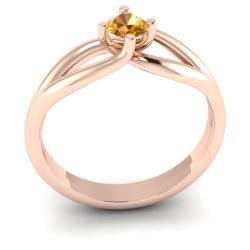 Verlovingsring marlies 025 rendering shop_Perspective_White Matte_Rose Gold_Sapphire Yellow