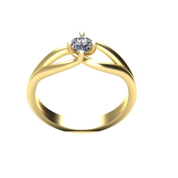 Verlovingsring marlies_45graden_Through_Finger_Yellow_Gold_14kt_Diamond