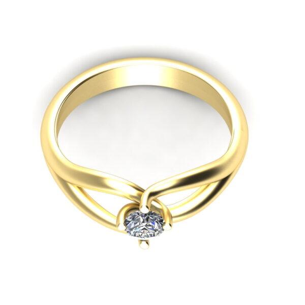 Verlovingsring_marlies_45graden_Looking Down_Yellow_Gold_14kt_Diamond