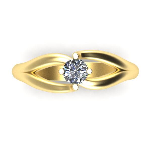 Verlovingsring_marlies_Down_Yellow_Gold_14kt_Diamond