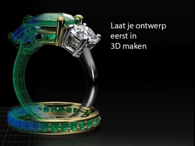 verloving-ring-bestellen-diamanten-3D-model