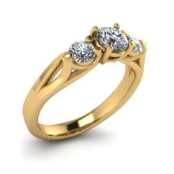 verlovings ring 044 renderen_Perspective_Diamond_Yellow Gold